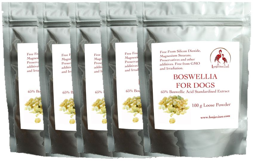 Frankincense (Boswellia Serrata) vegetarian capsules, 100 x 400mg for £6.15, in a stand up pouch.